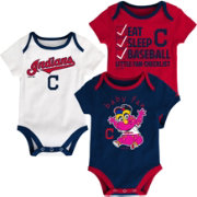 Majestic Infant Cleveland Indians 3-Piece Onesie Set