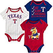 Majestic Infant Texas Rangers 3-Piece Onesie Set