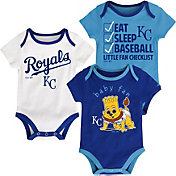 Majestic Infant Kansas City Royals 3-Piece Onesie Set