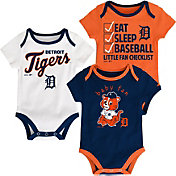Majestic Infant Detroit Tigers 3-Piece Onesie Set
