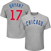 Majestic Men's Chicago Cubs Kris Bryant #17 Grey T-Shirt