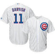 Majestic Men's Replica Chicago Cubs Yu Darvish #11 Cool Base Home White Jersey