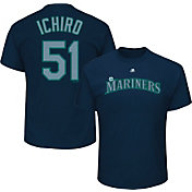 Majestic Men's Seattle Mariners Ichiro Suzuki #51 Navy T-Shirt
