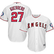Majestic Men's Replica Los Angeles Angels Vladimir Guerrero #27 Cool Base Home White Jersey w/ 2018 HOF Patch