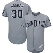 Majestic Men's Authentic San Diego Padres Eric Hosmer #30 Flex Base Road Grey On-Field Jersey