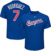Majestic Men's Texas Rangers Ivan Rodriguez #7 Royal T-Shirt