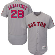 Majestic Men's Authentic Boston Red Sox J.D. Martinez #28 Flex Base Road Grey On-Field Jersey