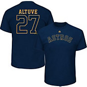 Majestic Men's Houston Astros Jose Altuve #27 Championship Gold T-Shirt