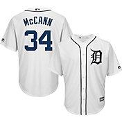 Majestic Men's Replica Detroit Tigers James McCann #34 Cool Base Home White Jersey