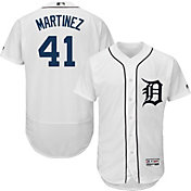 Majestic Men's Authentic Detroit Tigers Victor Martinez #41 Flex Base Home White On-Field Jersey