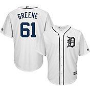 Majestic Men's Replica Detroit Tigers Shane Greene #61 Cool Base Home White Jersey