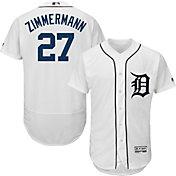 Majestic Men's Authentic Detroit Tigers Jordan Zimmermann #27 Flex Base Home White On-Field Jersey