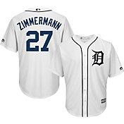Majestic Men's Replica Detroit Tigers Jordan Zimmermann #27 Cool Base Home White Jersey