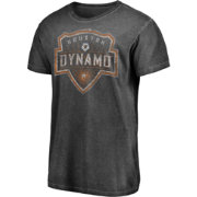 Majestic Men's Houston Dynamo Washed Logo Black T-Shirt