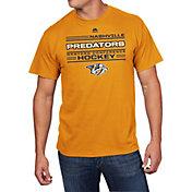 Majestic Men's Nashville Predators Forecheck Gold T-Shirt