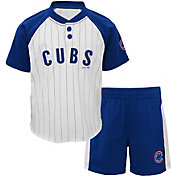 Majestic Toddler Chicago Cubs Good Hit Shorts & Top Set