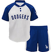 Majestic Toddler Los Angeles Dodgers Good Hit Shorts & Top Set