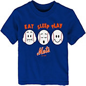 "Majestic Toddler New York Mets ""Eat Sleep Play"" T-Shirt"