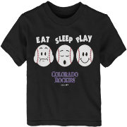 "Majestic Toddler Colorado Rockies ""Eat Sleep Play"" T-Shirt"