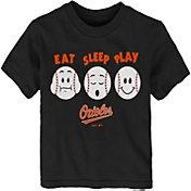 "Majestic Toddler Baltimore Orioles ""Eat Sleep Play"" T-Shirt"