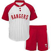 Majestic Toddler Texas Rangers Good Hit Shorts & Top Set