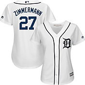 Majestic Women's Replica Detroit Tigers Jordan Zimmermann #27 Cool Base Home White Jersey