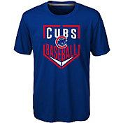 Majestic Boys' Chicago Cubs Dri-Tek Run Scored T-Shirt
