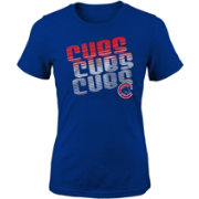 Majestic Youth Girls' Chicago Cubs 3-Peat T-Shirt