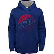 Majestic Youth Chicago Cubs Battle Pullover Hoodie