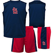 Majestic Boys' St. Louis Cardinals Home Stand Shorts & Top Set