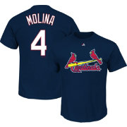 Majestic Youth St. Louis Cardinals Yadier Molina Navy T-Shirt