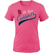Majestic Youth Girls' St. Louis Cardinals Tail Sweep Pink T-Shirt