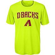 Majestic Youth Arizona Diamondbacks Glowing Game Neon T-Shirt