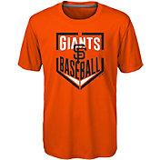 Majestic Boys' San Francisco Giants Dri-Tek Run Scored T-Shirt