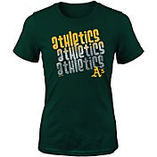 Majestic Youth Girls' Oakland Athletics 3-Peat T-Shirt