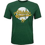 Majestic Youth Oakland Athletics Flagship Tri-Blend T-Shirt