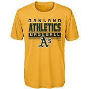 Majestic Youth Oakland Athletics Dri-Tek Digital Score T-Shirt