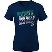 Majestic Youth Girls' Seattle Mariners 3-Peat T-Shirt