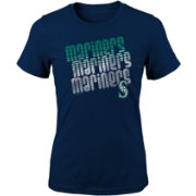 Majestic Youth Girls' Seattle Mariners 3-Peat T-Shirt