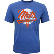 Majestic Youth New York Mets Flagship Tri-Blend T-Shirt