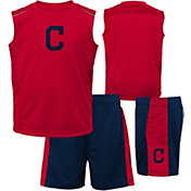 Majestic Boys' Cleveland Indians Home Stand Shorts & Top Set