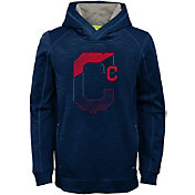 Majestic Youth Cleveland Indians Battle Pullover Hoodie