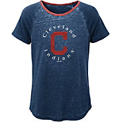 Majestic Youth Girls' Cleveland Indians Dugout Diva Shirt