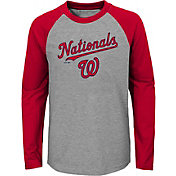 Majestic Youth Washington Nationals Good Play Raglan Long Sleeve Shirt