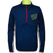 Majestic Youth Washington Nationals Excellence Quarter-Zip Fleece