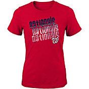 Majestic Youth Girls' Washington Nationals 3-Peat T-Shirt