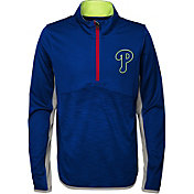 Majestic Youth Philadelphia Phillies Excellence Quarter-Zip Fleece