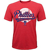 Majestic Youth Philadelphia Phillies Flagship Tri-Blend T-Shirt