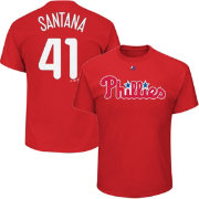 Majestic Youth Philadelphia Phillies Carlos Santana Red T-Shirt