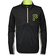 Majestic Youth Pittsburgh Pirates Excellence Quarter-Zip Fleece